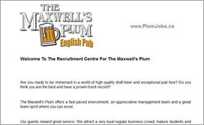 The Maxwell's Plum